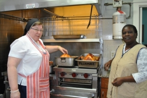 Thanksgiving celebration with SSMI Sisters, St. Joseph's Home Residents, families and friends.