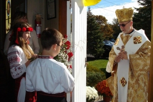 Visiting and celebrating with the Parishioners of Riverhead, NY.