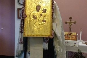 Bishop Paul blesses icon of Zarvanytsia