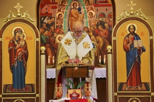 Bishop Paul Chomnycky's Feast Day celebration at the end of 2020 SSMI's retreat