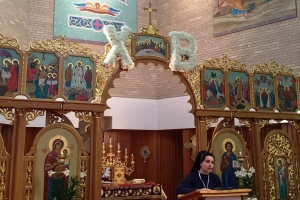 Blessed Josaphata icon with relic visits St. Josaphat in Rochester, NY