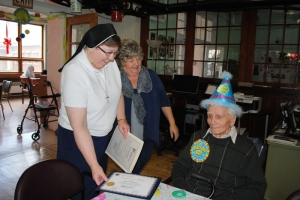 Resident of St. Joseph's Adult care Home celebrated his 100th birthday.