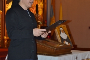 Sisters Tekla and Eliane visted St. Michael's Parish in Cherry Hill, NJ, with Bl. Josaphata Relic an
