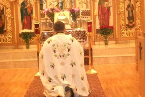 Visit to Holy Family Parish in Lindenhurst, NY with Blessed Josaphata's Icon